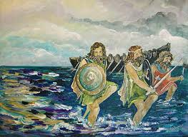 Tuatha arriving in Ireland